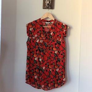 Anthropologie 11-1-TYLHO  Flowers Top